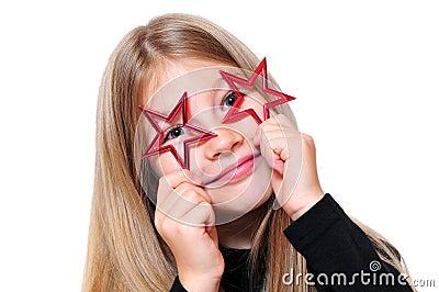 Funny girl Christmas star