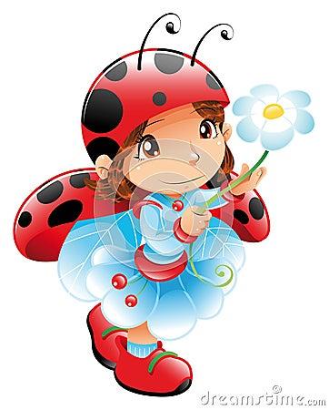 Free Funny Girl-Ladybug Royalty Free Stock Images - 6922949