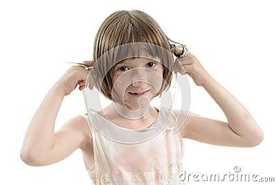 Funny  girl playing