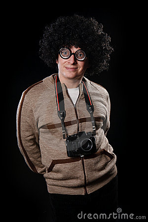 Funny guy with a camera