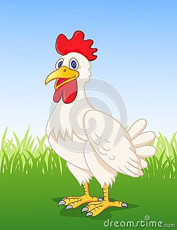 Funny Hen Cartoon