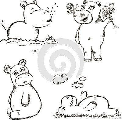 Free Funny Hippo Royalty Free Stock Photo - 71318345