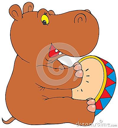 Free Funny Hippopotamus Royalty Free Stock Photo - 3175585
