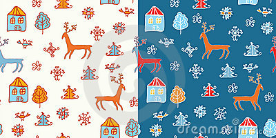 Funny holidays christmas pattern