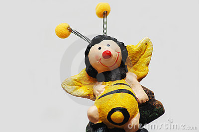 Funny honey bee
