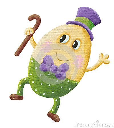 Funny Humpty Dumpty with hat