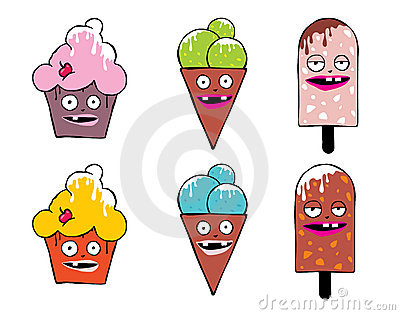 Funny icecream faces