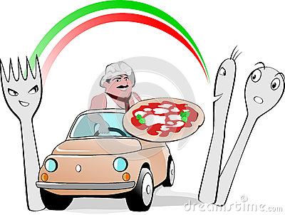 Pizza Man on Cinquecento