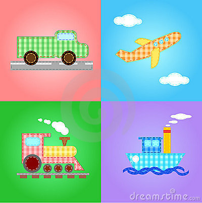Free Funny Images Of Four Types Of Transport - Vector Royalty Free Stock Photos - 18298748