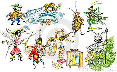 Funny insects set