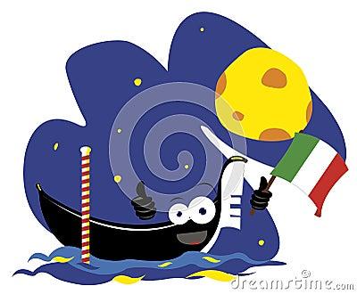 Funny Italian gondola