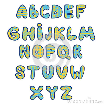Vector English Alphabet, Kids Type Stock Vector - Image: 70918424