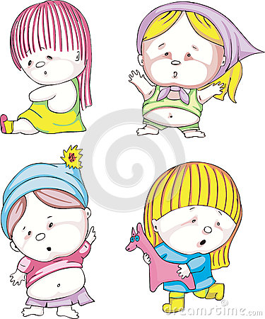 Funny kids - girls