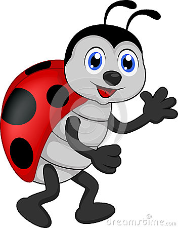 Free Funny Lady Bug Cartoon Stock Photography - 31865492