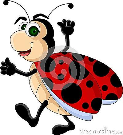 Funny Ladybug cartoon