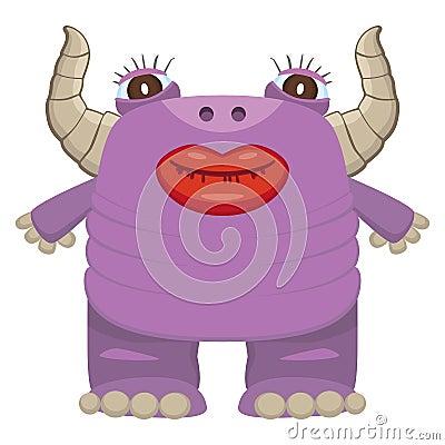 Funny purple monster