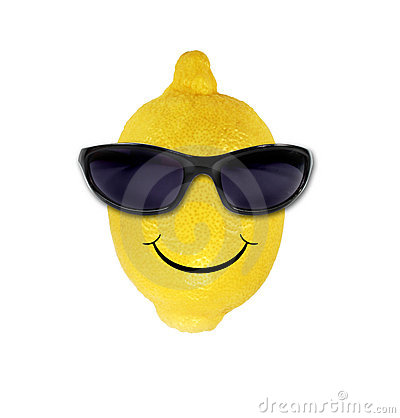 Funny lemon in sunglasses