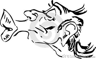 Funny Lips Cartoon