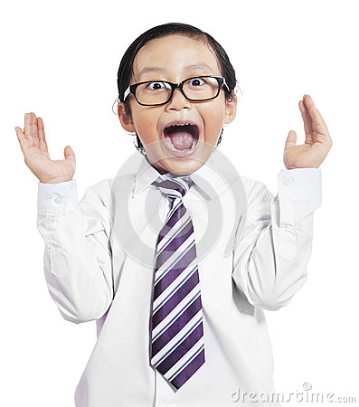Free Funny Little Boy With Shocked Expression Stock Images - 48537734