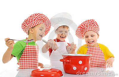 Funny little chefs