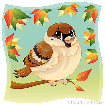 Free Funny Little Sparrow On A Branch. Royalty Free Stock Image - 18623606