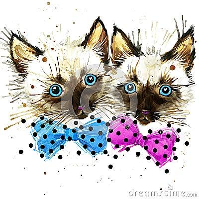 Free Funny Lkitten Watercolor Stock Photos - 54754703