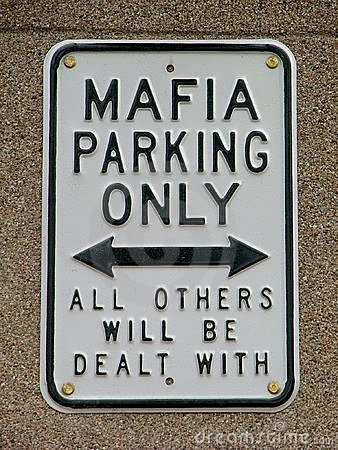 Free Funny Mafia Warning Sign Royalty Free Stock Images - 11303239