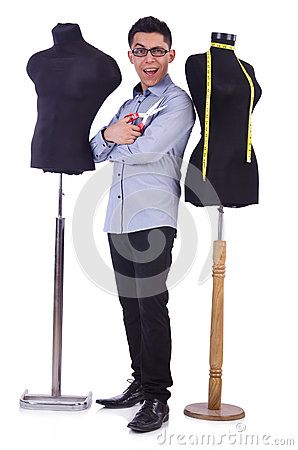 Funny male tailor