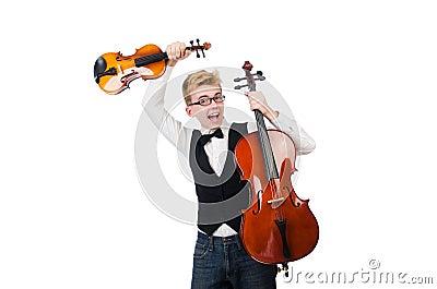 Funny man with violin