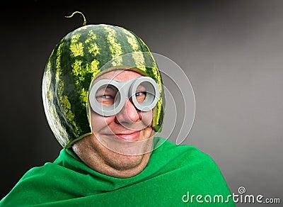 how to make a watermelon helmet