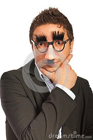 Free Funny Man With Mask Stock Images - 27525014