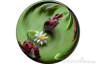 Funny marzipan birthday cake