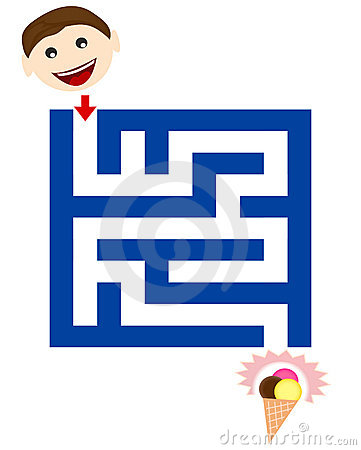 Funny maze for children