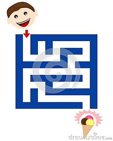 Funny maze for children