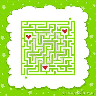 Free Funny Maze. Game For Kids. Puzzle For Children. Cartoon Style. Labyrinth Conundrum. Color Vector Illustration. Find The Right Path Royalty Free Stock Photos - 145232618