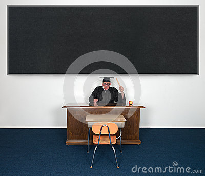 Funny Mean Angry Teacher Chalkboard YOUR TEXT HERE