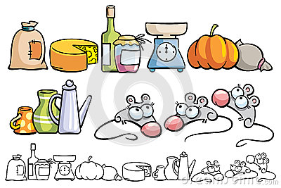 funny mice and kitchen items stock photos image 30329343