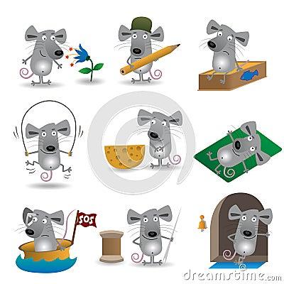 Funny mice set