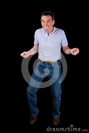 Free Funny Middle Age Man Doing Silly Dance Stock Photos - 30674403