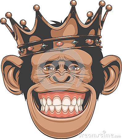 Free Funny Monkey Crown Royalty Free Stock Photo - 63213565