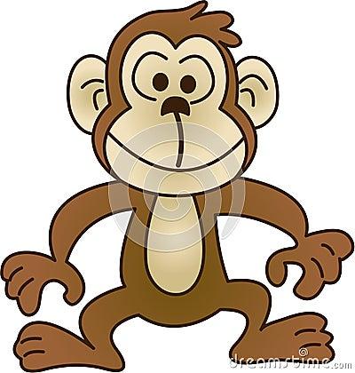 Funny monkey - vector illustration
