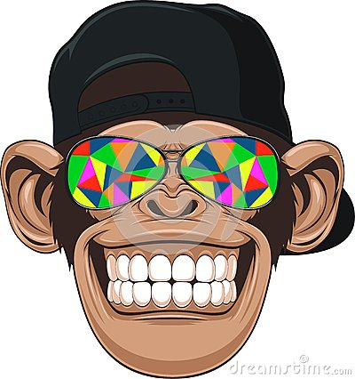 Free Funny Monkey With Glasses Royalty Free Stock Photography - 42994387