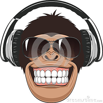 Free Funny Monkey With Glasses Stock Images - 56396474