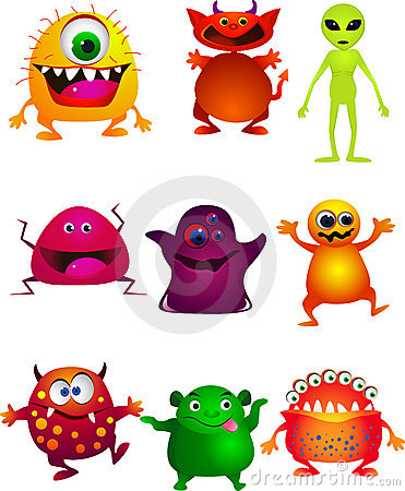 Funny monster cartoon collection