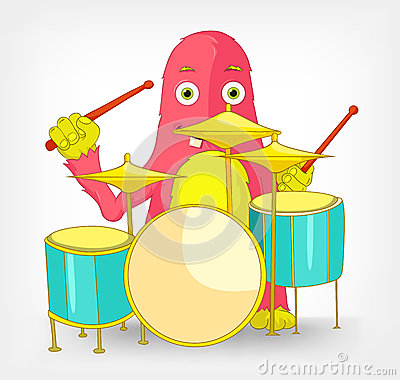 Funny Monster. Drummer.