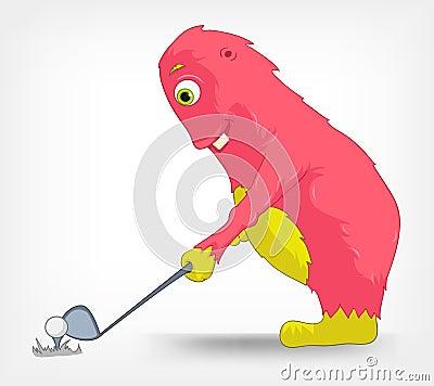 Funny Monster. Golf.
