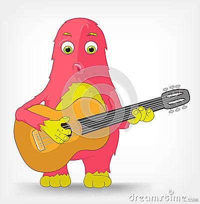 Funny Monster. Guitarist.