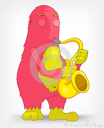 Funny Monster. Saxophonist.
