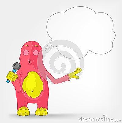 Funny Monster. Singing.
