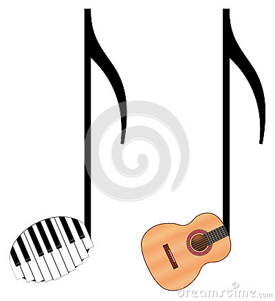 Funny music notes Vector Illustration